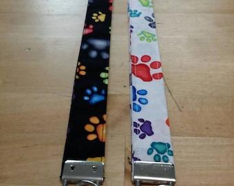Paw Print Lanyard / Keyring / Key Ring / Designer Lanyard / Paw Print / Lanyard Paws / Lanyard / Office Supplies / Dog Accessories