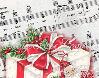 TOYLAND music and gift Retro Christmas Large digital download  ECS buy 3 get one free