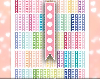 Checklist Planner Stickers Printable ღ Printable Planner Stickers ღ Dot Planner Stickers For Erin Condren Flags / Instant Digital Download
