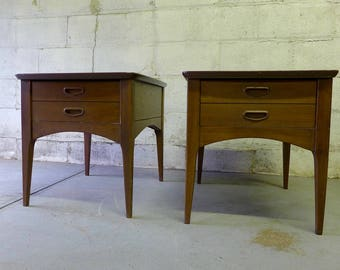 Mid Century Modern NIGHTSTANDS side tables