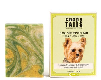 Soapy Tails Long & Silky Coats - Lemon Blossomy 4.75 oz.