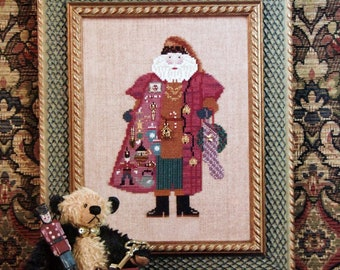 Peddler Santa With Charm Pack By Just Nan Cross Stitch Pattern Leaflet 2003