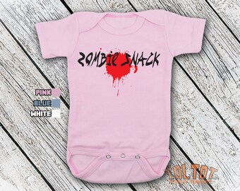 Bodysuit or Toddler Shirt, Zombie Snack, Zombie Bodysuit, Baby Shower Gift, Girls, Boys