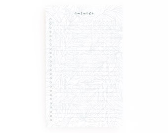 Floral To Do Notepad | Daily Planner Notepad with To Do List: Saturday To Do List Notepad