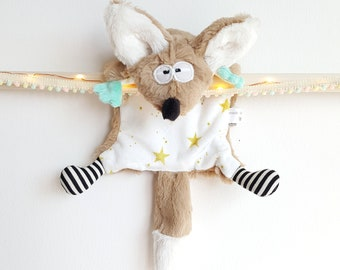 "Plush Fox flying ""stars"" - original Monster toy"