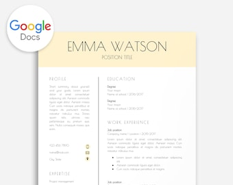 google cover page template