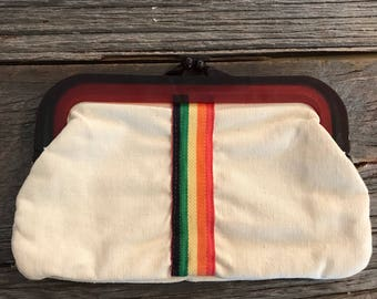 Rainbow Bakelite Clutch