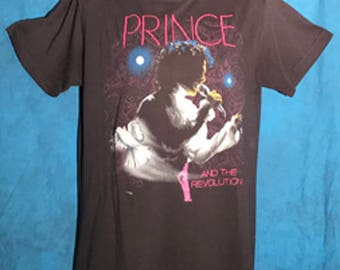 Prince and the Revolution 1980 Vintage Purple Rain Tour Tshirt, made in the U.S.A, RARE