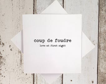 Anniversary Card - Birthday Card - For girlfriend - For boyfriend - For partner - For wife - For husband - Anniversaire cartes en francais