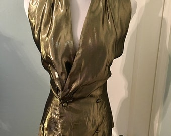 Vintage Baldanza Gold Blouse