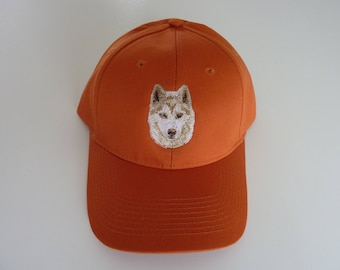 Siberian Husky embroidered cap