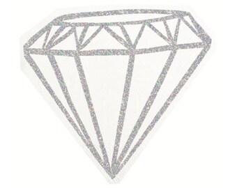 Diamond Napkin, Bachelorette, Hens Party, Bridal Shower Napkins, Diamond Shape