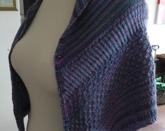 Wool and Silk Mix Lightweight Shawl