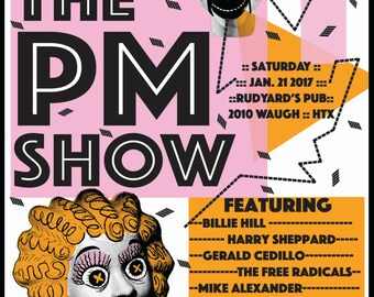 The PM Show -- Screenprinted Poster