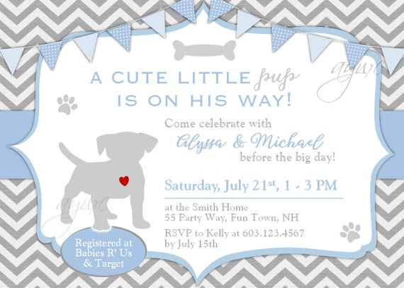Dog baby shower invitation boy puppy baby shower invitation dog baby shower invitation boy puppy baby shower invitation labrador retriever baby shower invitations baby shower black lab pup shower filmwisefo Image collections