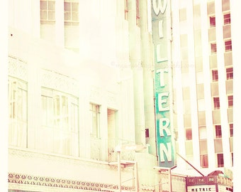 Wiltern photograph, architecture print, Los Angeles photo, California, music, musicians, art deco, mint green, travel, Koreatown, Wilshire