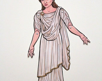 Agrippina Minor Ancient Roman Empress Queen Articulated Paper Doll