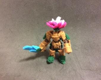 Felt Flower Knight Action Figure