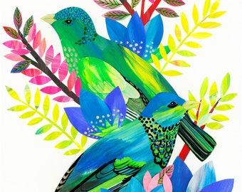 Limited edition Giclée Bird art printillustration