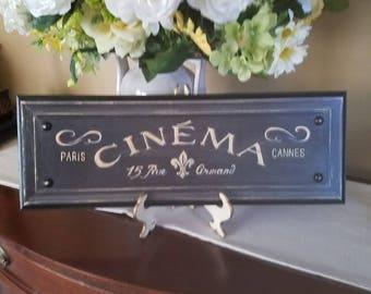 French Cinema trompe l'oeil sign