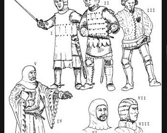 PP102 - More Medieval Military Garments Sewing Pattern by PeriodPatterns