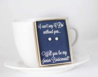 Will You Be My Junior Bridesmaid - Junior Bridesmaid Proposal - Junior Bridesmaid Gift - Junior Bridesmaid Jewelry - Bridal Party Gift