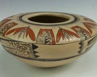 Native American, Vintage Hopi Pottery Bowl, by Jean Sahme, Ca 1980's,  #1185