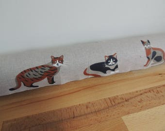 Cats draft Stopper. Light blocker. Door or window snake. Draught excluder. home accessory. energy saver. window draft stop.
