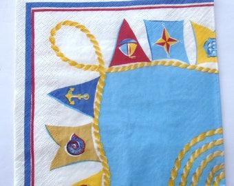 paper flags sailors No. 20 napkins   3542