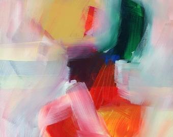 Modern Art, Original abstract Painting, Whimsical Art, Geometric, Colorful Art, Fine Art, wrapped canvas, original Art