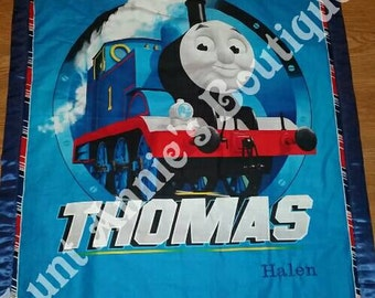 The Tank Engine character personalized silky edge blanket