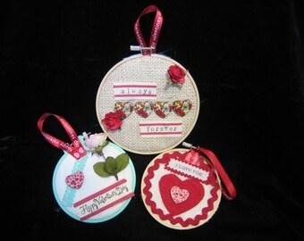 Valentine Embroidery hoop