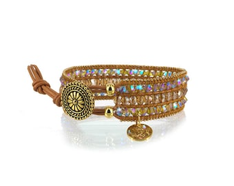 Gift for her * Swarovski wrap bracelet by Suza