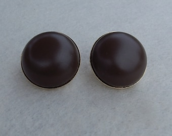 Sarah Coventry Fashion Frost (Brown) Clip Earrings 7326  Vintage