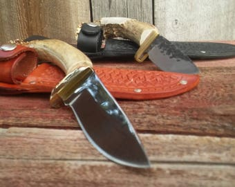 Antler Handle Hunting Knife