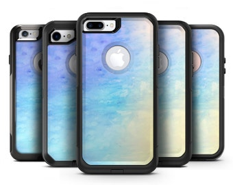 Teal 42234 Absorbed Watercolor Texture - OtterBox Case Skin-Kit for the iPhone, Galaxy & More