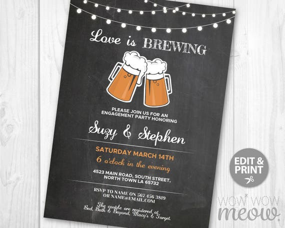 Love is Brewing Couple's Shower Invitation