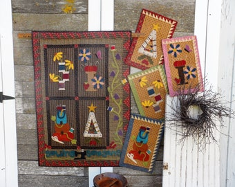 Sewing Seasons Wool Applique Quilt Pattern