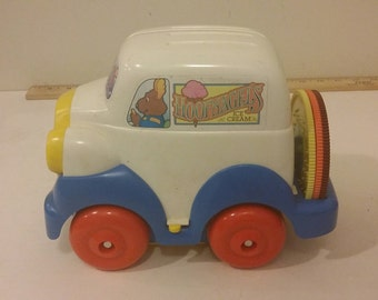 Vintage Tomy Get-Along-Gang Hoofnagels Ice Cream Truck Musical Toy , 1984