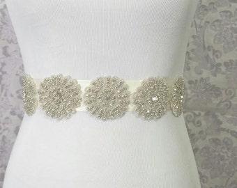 Bridal Sash - bridal belt - bridal rhinestone sash - sparking sash - wedding sash