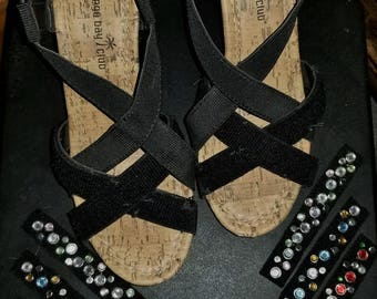 Strappy Sandals with changeable Bling size 6