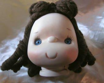 LITTLE LULU PORCELAIN Doll Head, Little Lulu Doll Head, Marge's Little Lulu, Comic Character,Vintage Little Lulu, Doll Makers Porcelain Head