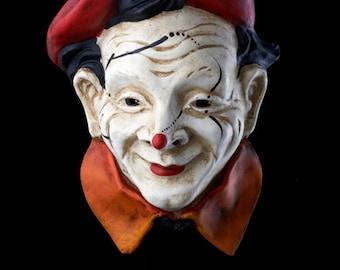 Venetian Mask | White Clown