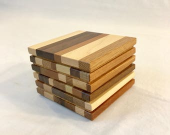 Wood Coasters (set of 6)