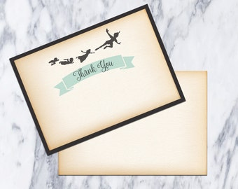 Thank You Card-Printable-DIY-Instant download-Party-Fiesta-Pixie-Neverland-Pan-Birthday-Baby Shower