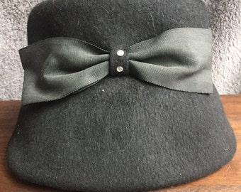 Vintage Black Henry Pollak Ladies Hat