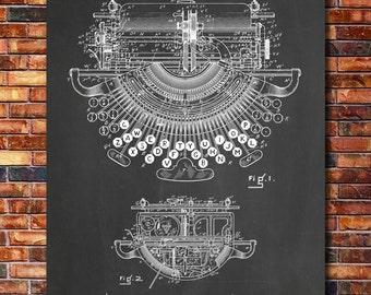 Typewriter Patent Print Art 1897