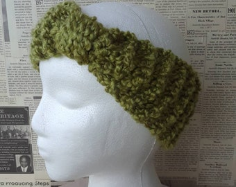 Knit Knot Ear Warmer - Grass