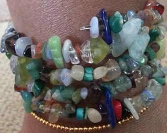 Handmade OOAK #13 beaded bracelet