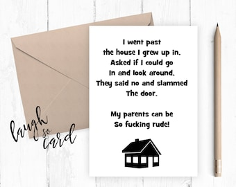 Mum Birthday card Dad Birthday card, Funny birthday card, Greeting card, Fathers Day, Mothers Day happy birthday dad, funny, humour